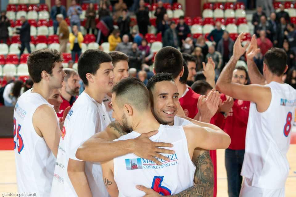 Basket B, l'Adriatica Press batte Civitanova ben oltre il +8 finale (71-63)