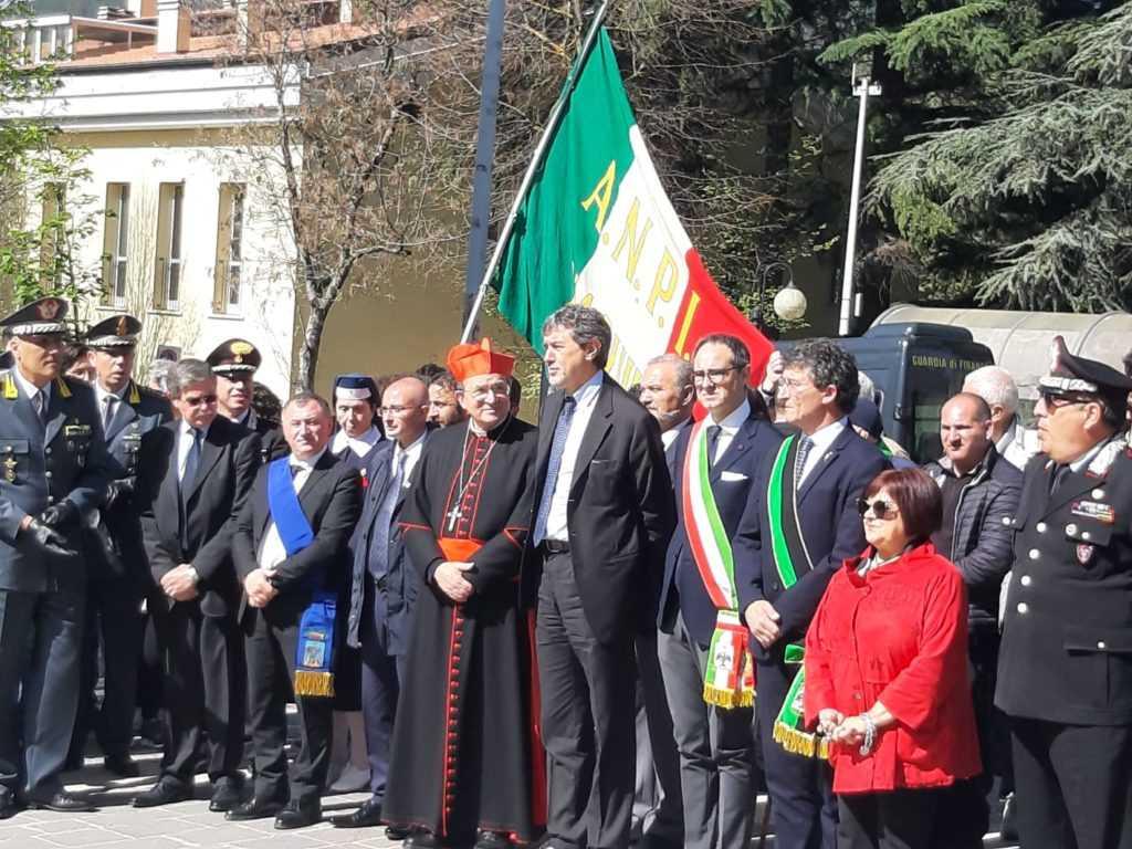 FOTO | Il 25 aprile del governatore d'Abruzzo Marco Marsilio
