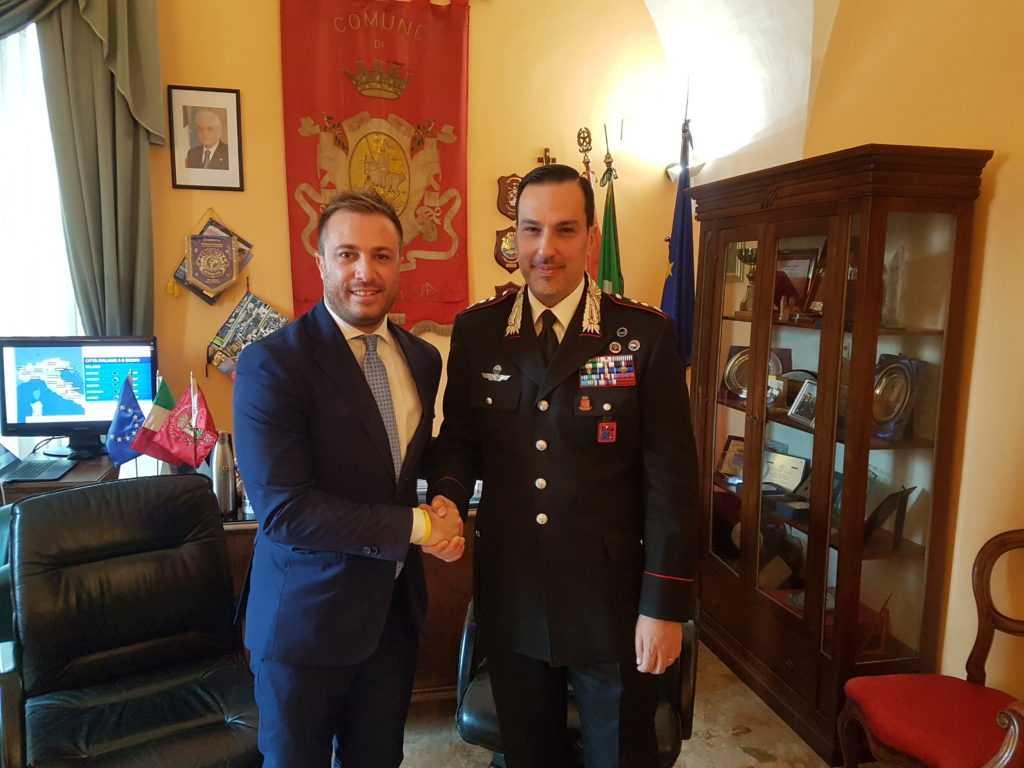 Giulianova,  visita istituzionale in Comune del nuovo Comandante provinciale dei Carabinieri Emanuele Pipola