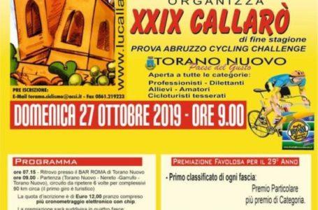 """Sulle strade di Torano Nuovo al via domenica la 29^ edizione della gara ciclistica """"Lu Callarò"""""""