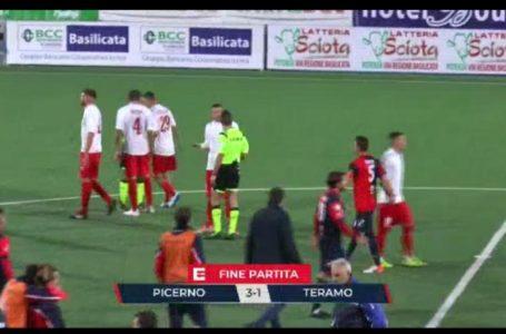 Calcio C, brutto passo indietro del Teramo che le busca dal Picerno (3-1)