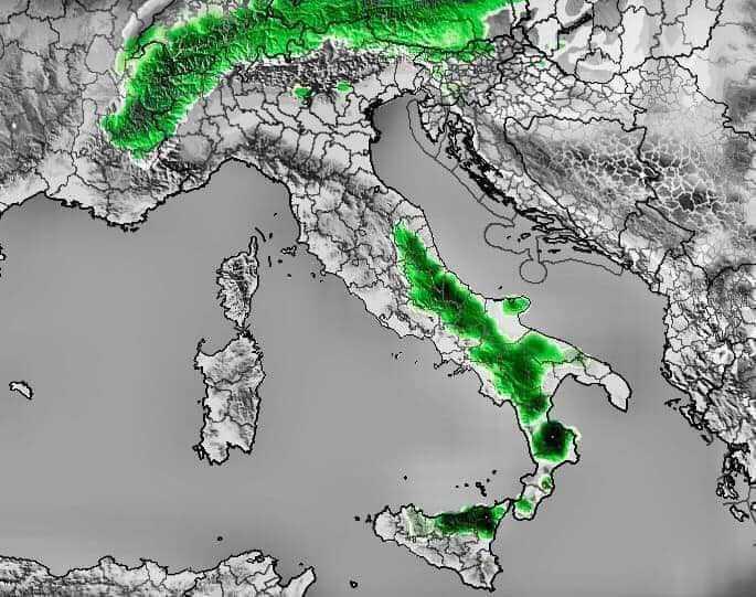 Meteo, arriva aria fredda dai Balcani e anche la neve