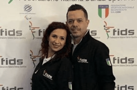 """Scuola di ballo """"Il Diamante"""", i teramani Pasqualino Pompetti e Alessia Di Lorenzo entrano a far parte del Club Azzurro"""