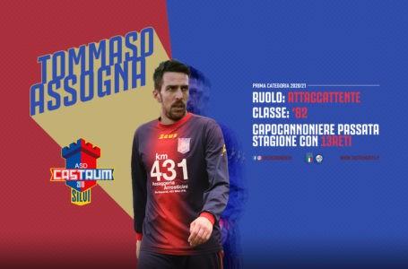 Calcio, Prima Categoria: colpa di mercato dell'ASD Castrum che si assicura Tommaso Assogna