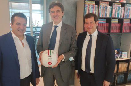 Calcio, il presidente del Teramo riceve in azienda il Governatore d'Abruzzo