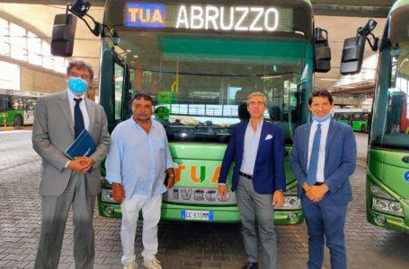 VIDEO e FOTO | Trasporti, 19 autobus di ultima generazione nella flotta di TUA. Si inizia dalla scuola