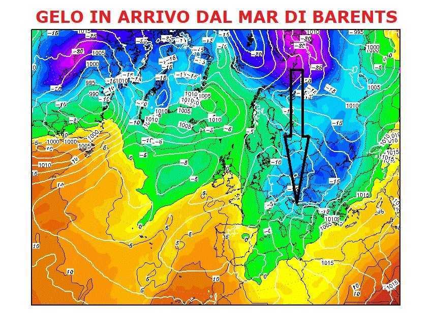 Meteo, in arrivo il gelo artico-siberiano in Abruzzo: possibili nevicate anche a quote basse