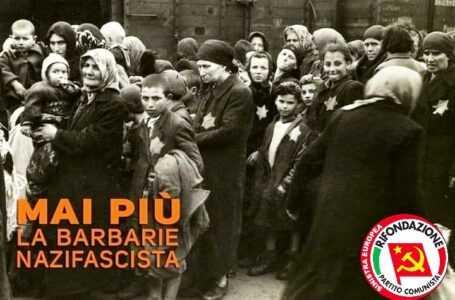 Giornata della Memoria, Rifondazione Comunista: ricordare è decisivo per non ripetere