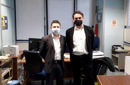 FOTO | Teramo, D'Alberto in visita al Centro Distribuzione Poste: in prima linea nella pandemia per garantire il servizio