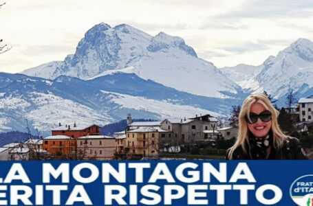 Monica Brandiferri e Fratelli d'Italia Teramo a sostegno degli operatori della montagna
