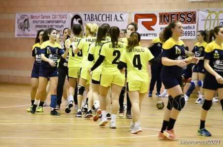 Handball donne, la Pallamano Teramo espugna Pontinia 19-27 ed è Campione d'Inverno