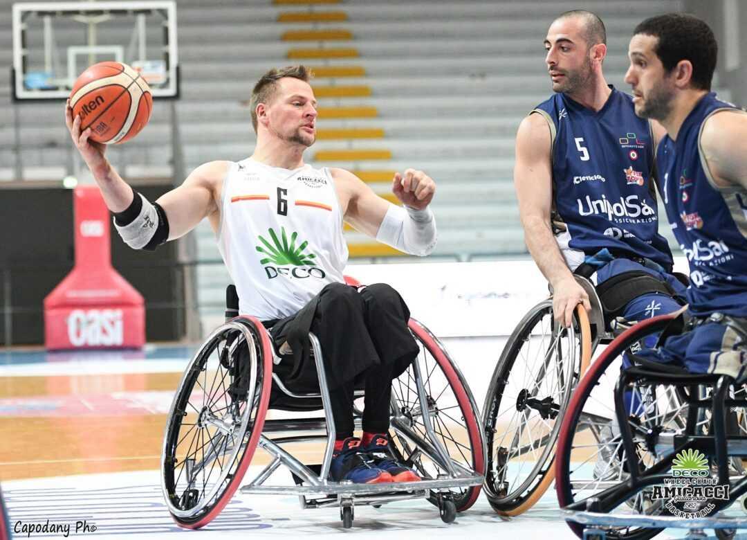 Basket in carrozzina, l'Amicacci perde gara 1 con Cantù (62-72): la finale si allontana