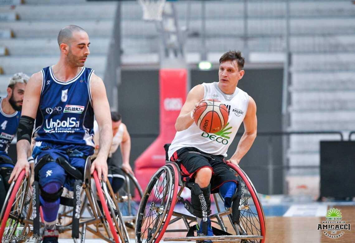 Basket in carrozzina, svanisce la finale scudetto per l'Amicacci battuta a Cantù (72-62)