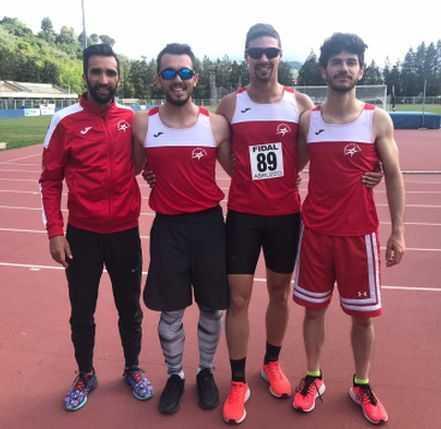 """Atletica, Festival delle Staffette: la 4 x 100 maschile della Gran Sasso vince con 42""""51"""