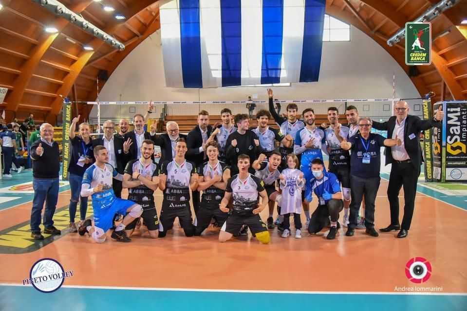 Volley A3, l'Abba Pineto si sbarazza del Motta di Livenza (3-0) e va a gara 3