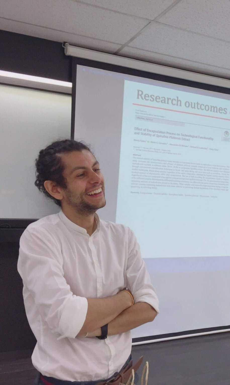 """""""Giovani ricercatori SISTAL 2021"""" a Marco Faieta di UniTe per una ricerca sulla Spirulina"""