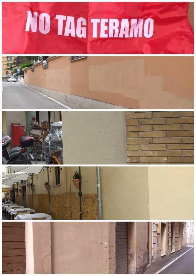 Gruppo No Tag, tinteggiate le mura di alcune scuole medie di Teramo