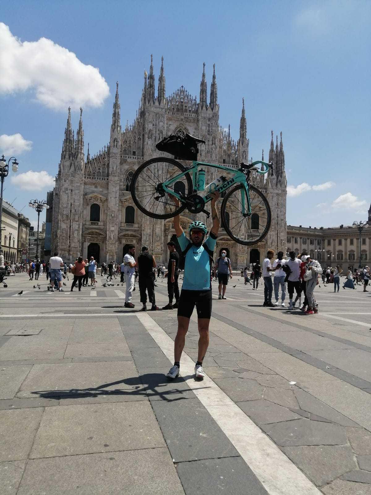 """In bicicletta da Chieti a Venezia, D'Amario: """"Giannini porterà in giro il nome dell'Abruzzo"""""""