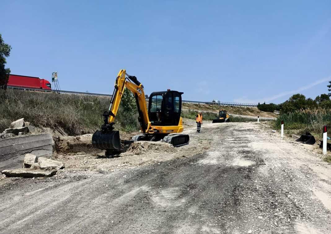 FOTO | Tortoreto, strada Panoramica: al via i lavori di sistemazione