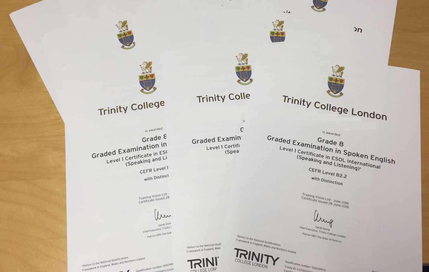 """Certificati Trinity College London a 34 studenti dell'IC """"Pertini"""" di Martinsicuro"""