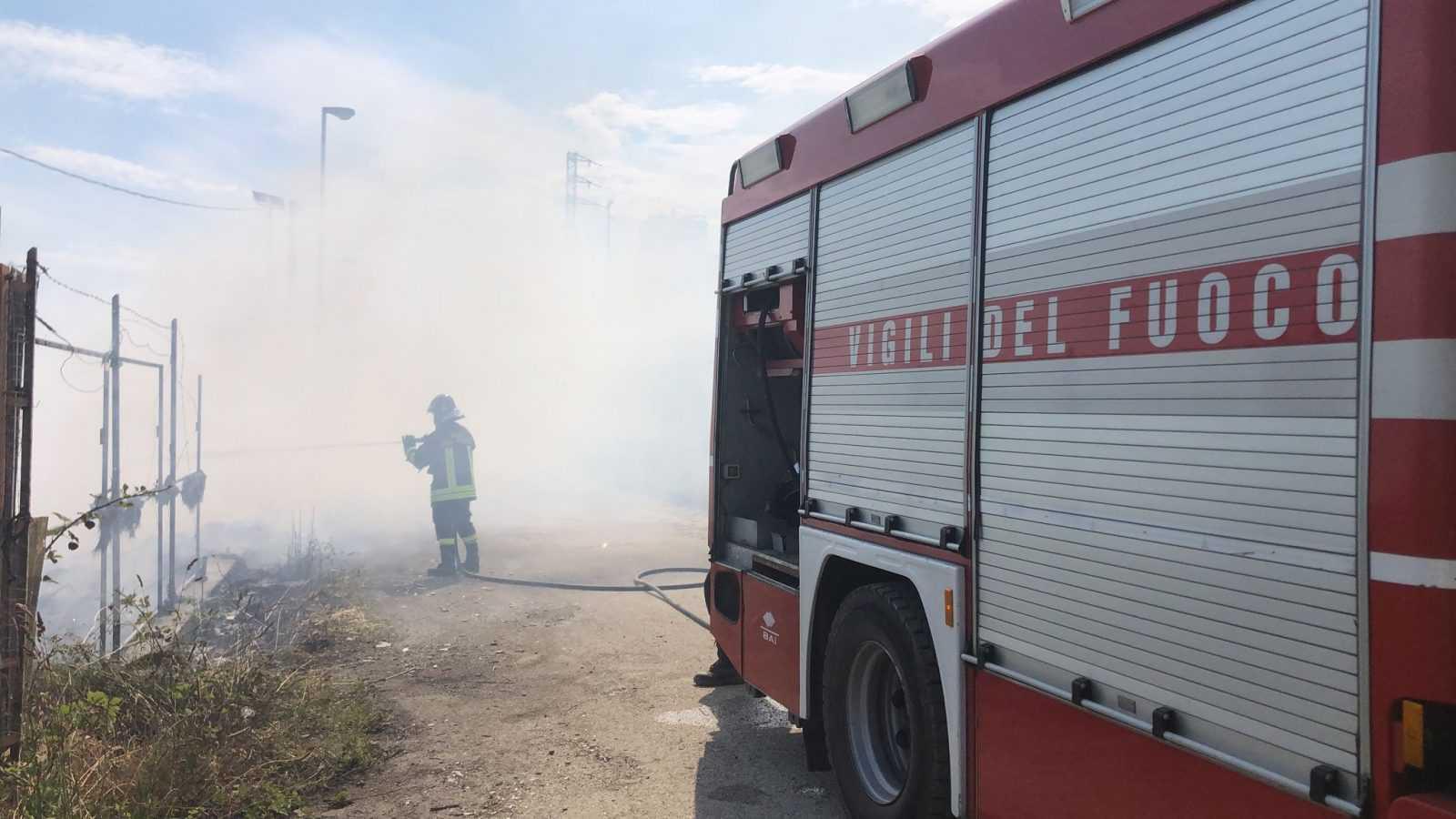 Due incendi di sterpaglie a Cellino e a Colleatterrato