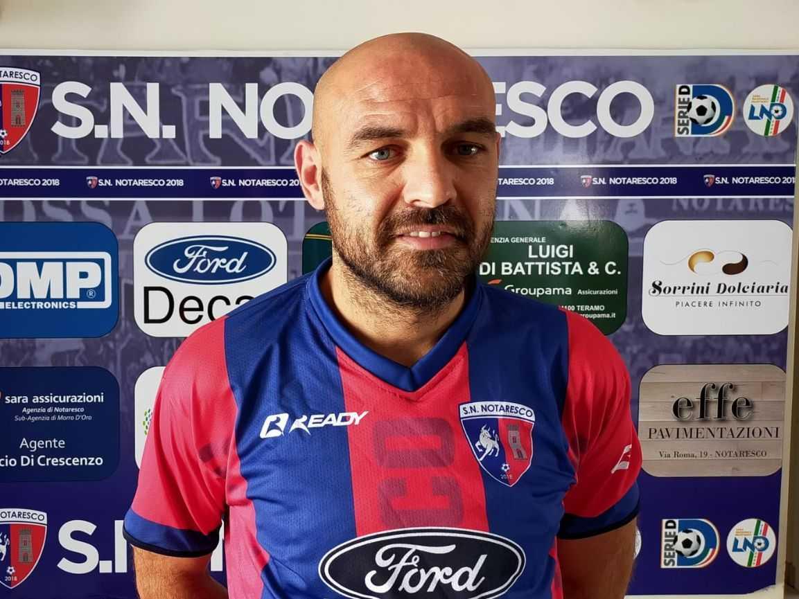 Calcio D, il SN Notaresco annuncia l'ingaggio dell'ex Pescara Alessandro Bruno