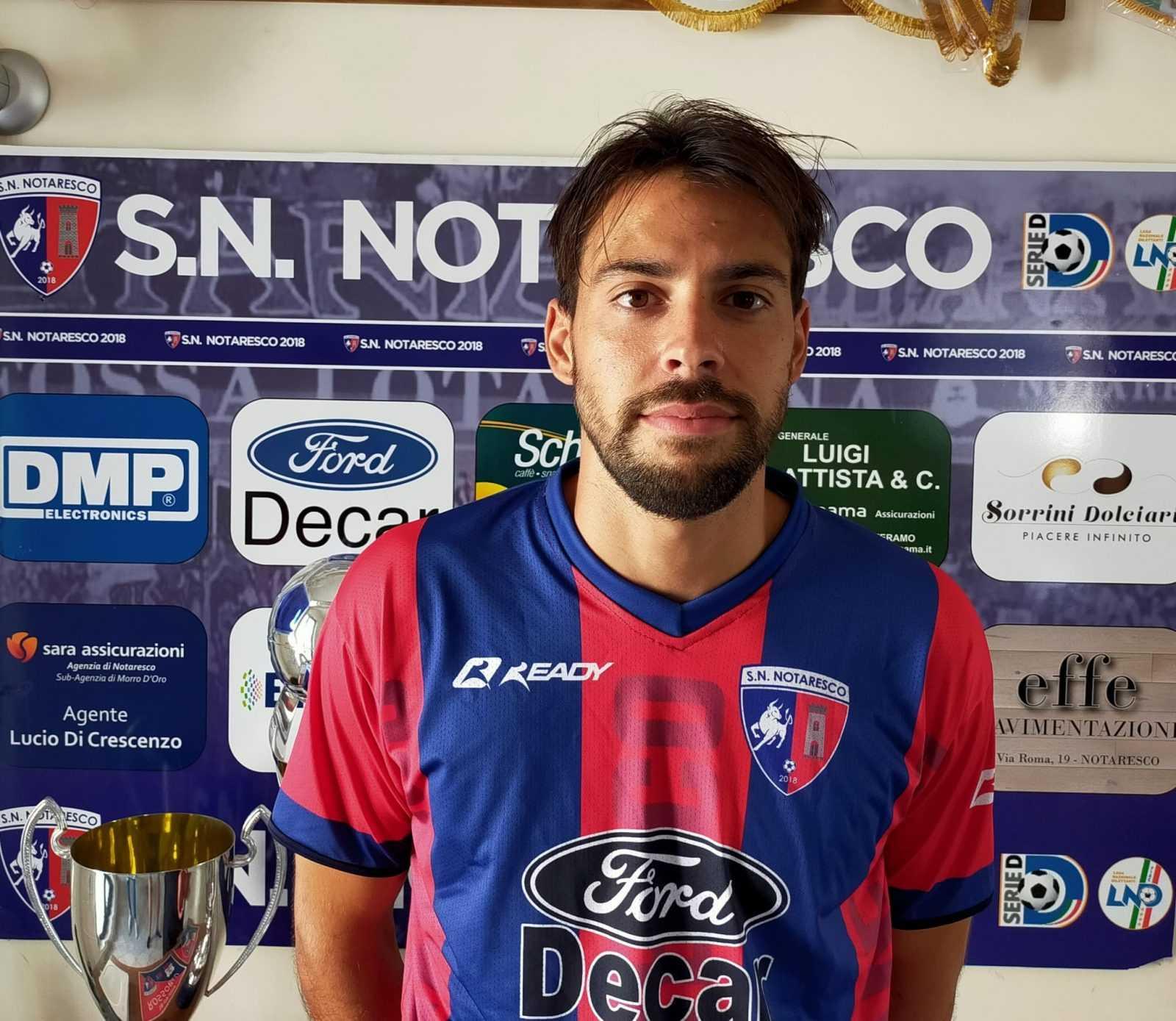 Calcio D, Francesco Maio sarà il bomber del SN Notaresco