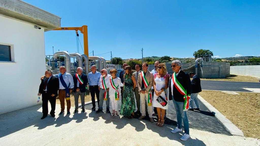 FOTO e VIDEO   Alba Adriatica, Ruzzo inaugura il nuovo depuratore consortile