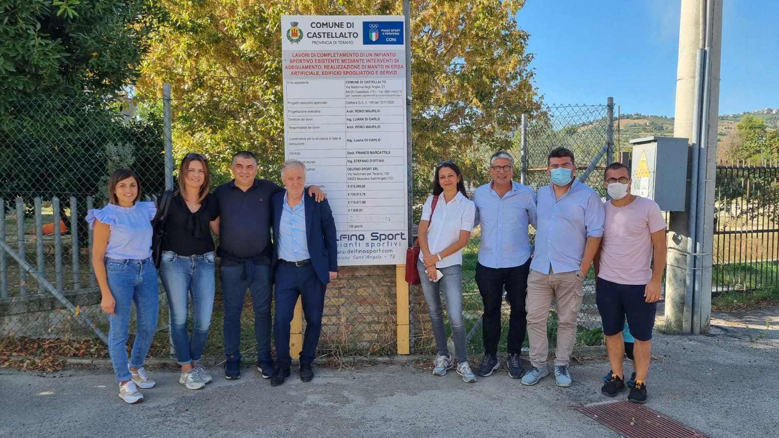 FOTO | Castellalto, consegnati i lavori di restyling del campo sportivo di Villa Torre