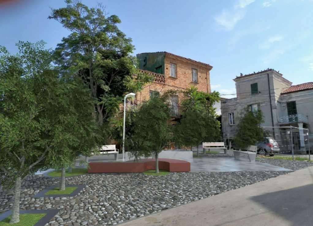 FOTO   Riqualificazione urbana di Atri, una nuova piazza in frazione San Giacomo