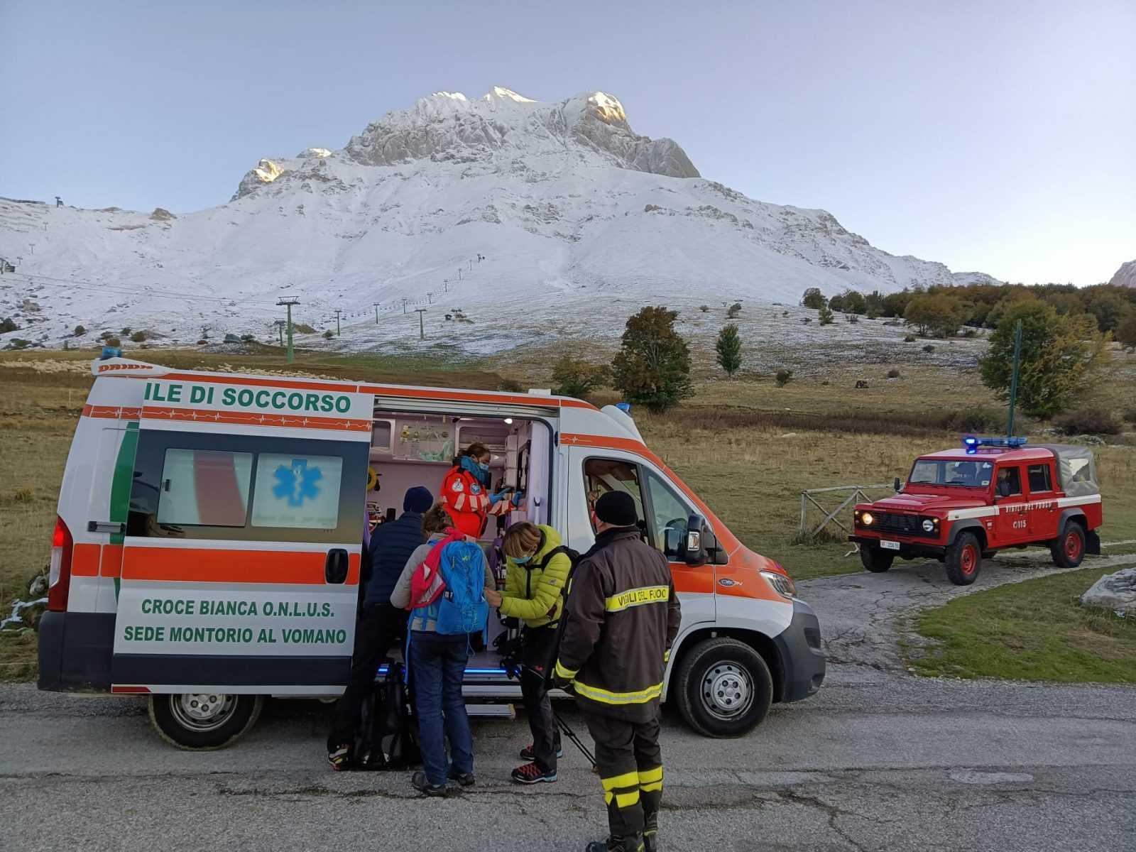 Incidente in montagna: soccorsa una turista francese a Prati di Tivo